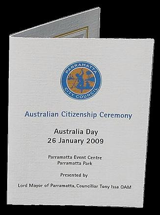 Citizenship ceremony photo folder