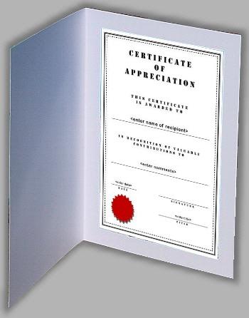 Certificate Folders